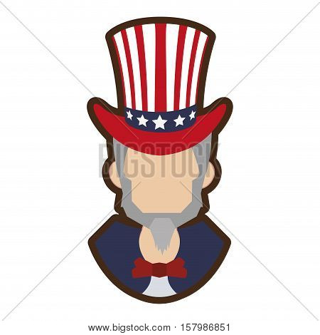 cartoon uncle sam symbol icon vector illustration eps 10