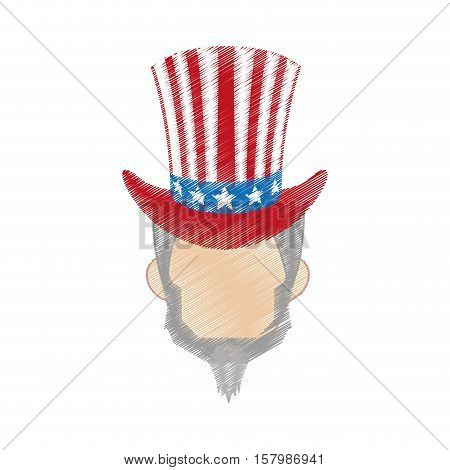 hand drawing uncle sam design vector illustration eps 10