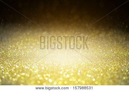 Textured background Glitter sparkle gold glitter glittering luxury and value.