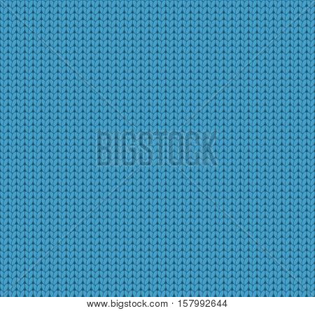 Seamless knitted blue pattern woolen fabric woolen cloth