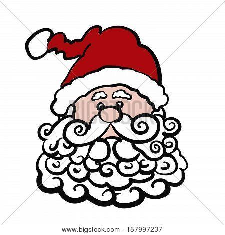 Santa Claus Sketch With Bobble Cap