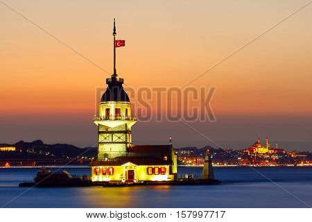 Maiden's Tower in istanbul, Turkey. Maiden's Tower in istanbul, Turkey