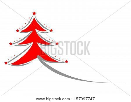 Vector Christmas Tree Compliments Card Background