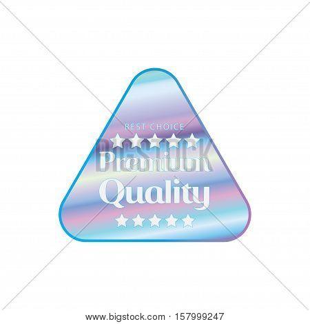 Holographic design illustration triangle shape sticker premium quality emblem
