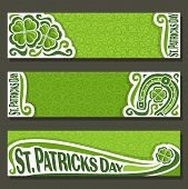 Vector abstract banner for St Patrick's Day on Shamrock background, greeting Clover header for congratulation title text, cover saint patrick day on shamrock leaf pattern ornament, clover foliage lawn poster