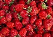 Strawberries. Background from fresh strawberries, Red strawberries. Strawberries at market. Strawberries fruits. Healthy strawberries.(selective focus) poster