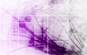 Technology Abstract with Futuristic Lines as Art poster