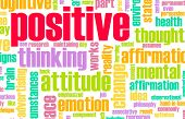 Thinking Positive as an Attitude Abstract Concept poster