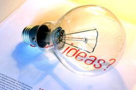 Lightbulb With Ideas