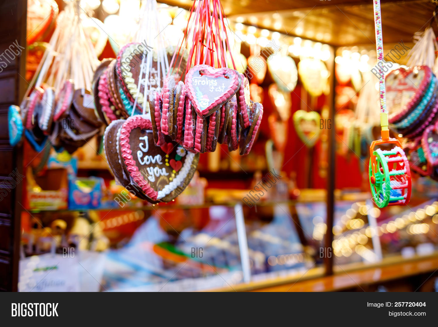 Gingerbread Hearts Image Photo Free Trial Bigstock