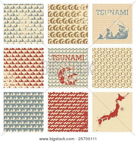 Grunge wave patterns