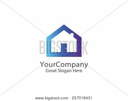 Abstract House Logo Icon Design. Home Sign Concept For Real Esta