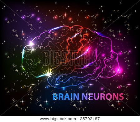 brain bokeh abstract light background
