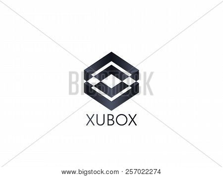 Abstract Box Cube Logo Icon Template. Apps And Technology Thing