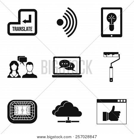 Useful Resource Icons Set. Simple Set Of 9 Useful Resource Icons For Web Isolated On White Backgroun