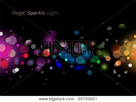 Vector Illustration of Abstract Sparkling Light