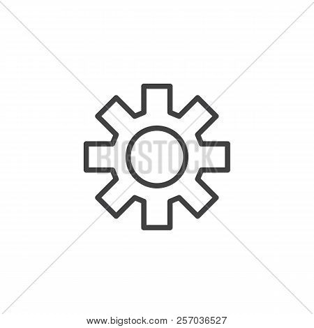 Gear Settings outline icon. linear style sign for mobile concept and web design. Configuration simple line vector icon. Symbol, logo illustration. Pixel perfect vector graphics poster