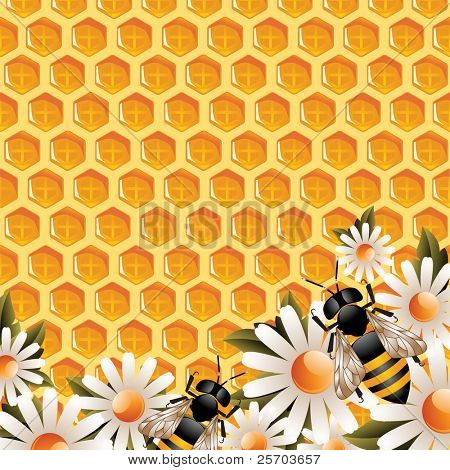 Floral Honey Background