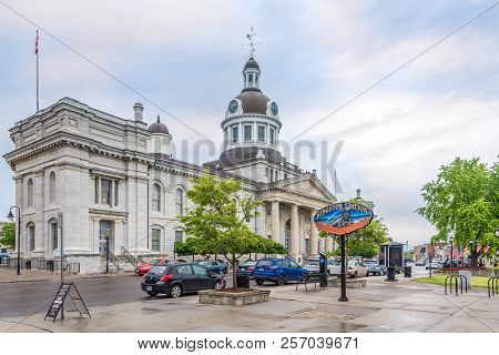 Kingston,canada - June 24,2018 - View At The City Hall And Market Building In Kingston. Kingston Is