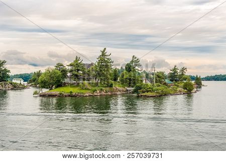Kingston,canada - June 24,2018 - View At Thousand Islands At The Saint Lawrence River. The Thousand