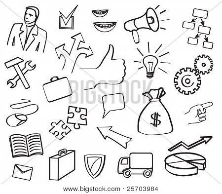 Vektor-Symbol-Bereiche und Abteilungen des Unternehmens