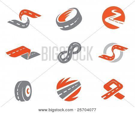 Set 2 of road symbols. Also as emblem.