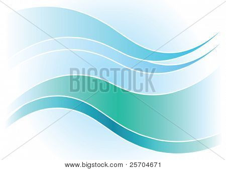 Background with waves. Vector.