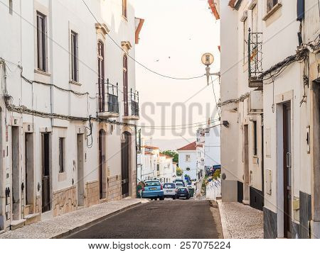 Estremoz, Portugal - August 23, 2018: Street In Estremoz, Alentejo Region, Portugal.