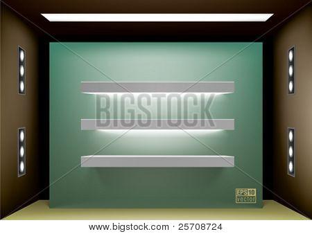 Shelf lightning for interior design, eps10 vector
