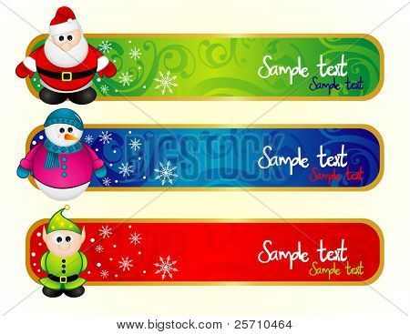 Christmas banners vector illustration
