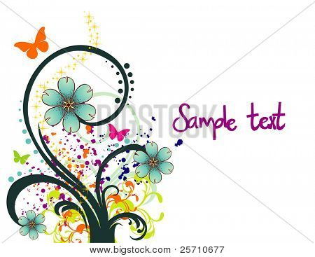 Flower background vector illustration