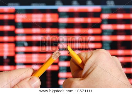 Stockmarket Crash, Broken Pencil