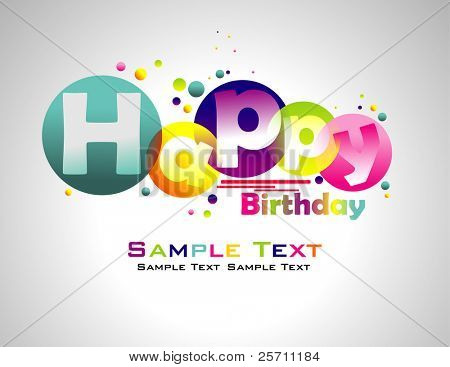 Happy Birthday abstract colorful background.