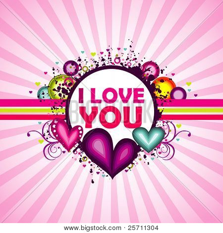 I love you colorful background.