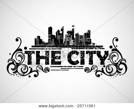 O plano de fundo da cidade