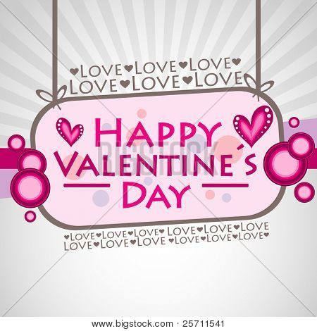Happy Valentine´s Day Background. Vector Illustration