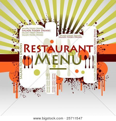 Restaurant Menu colorful background. Vector illustration