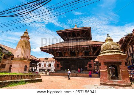 Traditional Architecture In Bhatktapur City, Nepal