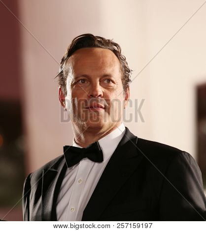 Vince Vaughn walks the red carpet ahead of the 'Dragged Across Concrete' screening during the 75th Venice Film Festival at Sala Grande on September 3, 2018 in Venice, Italy.