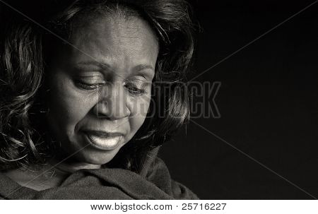 Beautiful Middle Aged African American Woman