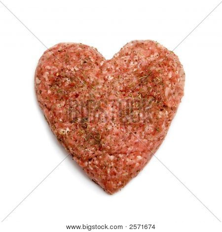 Heart Made Of Minced Meat
