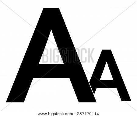 Font Size Icon On White Background. Flat Style. Font Size Icon For Your Web Site Design, Logo, App,