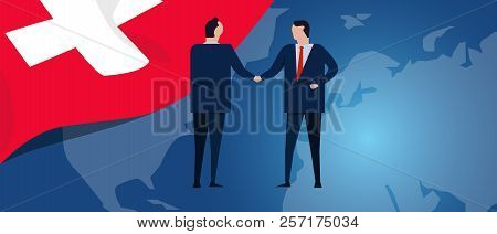 Switzerland Swiss International Partnership. Diplomacy Negotiation. Business Relationship Agreement