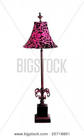 Elegant and stylish table lamp with leopard pattern lampshade