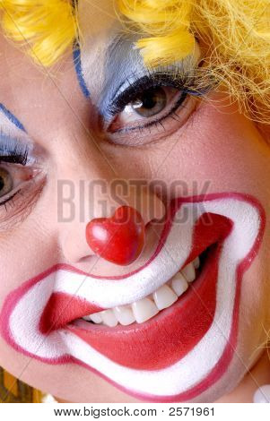 Closeup Of Female Clown