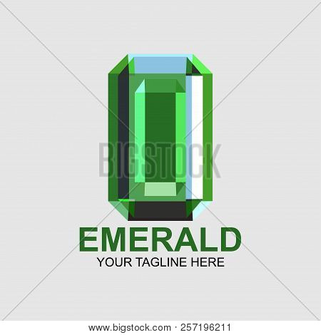 Emerald Company Logo Vector Illustration. Suitable For Jewelry Company, Modern Company, Etc
