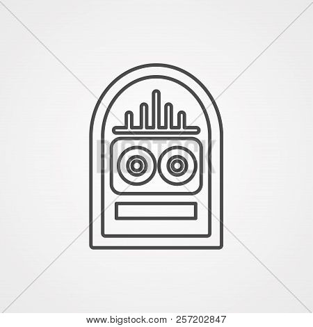 Jukebox Icon Vector. Flat Icon Isolated On The White Background. Editable Eps File. Vector Illustrat