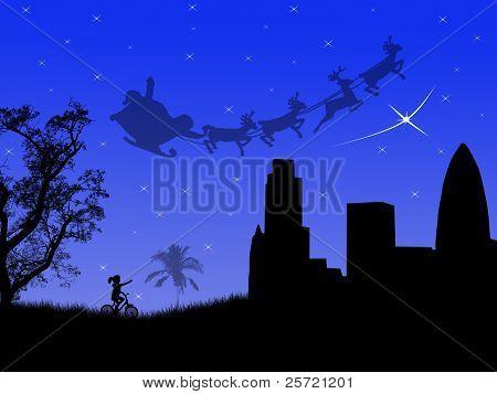 Santa Sleighs In The City