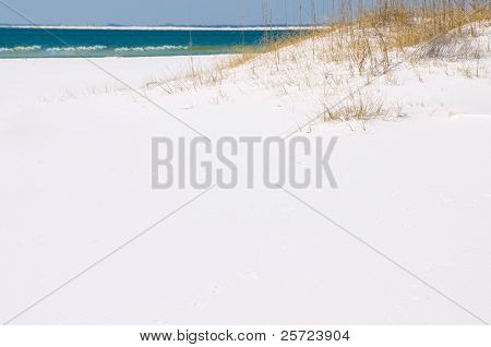 gentle waves on beautiful white beach