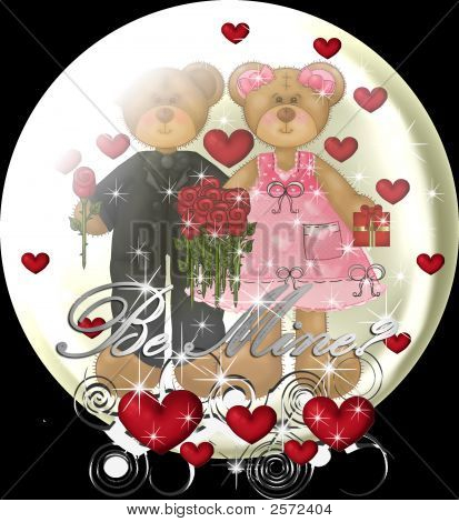 Valentines Day Romance Teddy Bears In A Snowglobe
